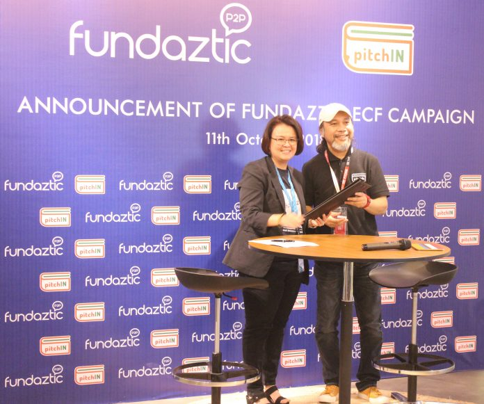 (from left) Kristine Ng, CEO of Peoplender Sdn Bhd and Sam Shafie, CEO, Pitch Platforms Sdn Bhd